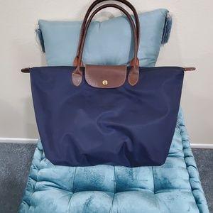 Longchamp navy blue tote